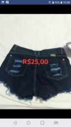 Título do anúncio: Blusa e short jeans N 38