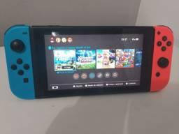 Nintendo Switch Desbloqueado 128gb na caixa