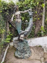 Escultura Importada dos EUA Em Bronze Maciço