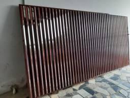 Portão usado de corre medidas 3.50x1.80 portao fechado