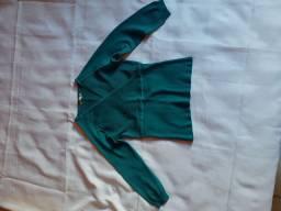 Blusa 3/4 Azul e bege P