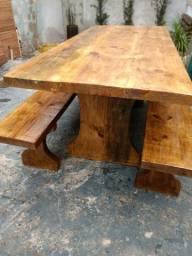 Jogo de mesas de prancha de pinus