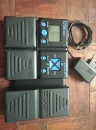 Pedaleira Zoom G1xOn - Multiefeitos, com pedal de expressão e fonte