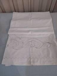 Cabeceira de cama Cretone feita a mão antiga 1 peça