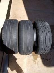 Pneus aro 17, 225/50 R17, meia vida para substituir pneu furado
