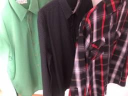 Camisa social tamanho M ( 3 peças)