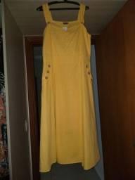 Vestido Midi Amarelo sem Uso, com Etiqueta GG