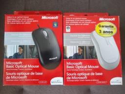 Mouse com Fio Microsoft Optical Basic novo, lacrado na caixa.