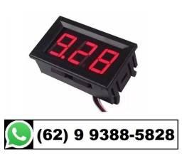 R$ 15 Voltímetro Digital 12v - 24v (Som Automotivo, Bateria, Alternador, Usina)