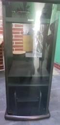 Rack para som Sony com porta de vidro