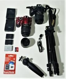Kit Completo com duas Câmeras D3100 e 3 lentes