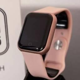 PROMO: Smartwatch relógio inteligente cor ROSE e PRETO. ENTREGA GRÁTIS e RÁPIDA!
