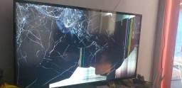 TV LG LED 49pl TELA QUEBRADA