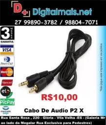 Promoção Cabo De Audio P2 X P2 Conector 3.5mm 2 Metros