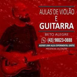 Aulas de Guitarra e Violão - Toque uma música já na 1ª aula que é 100% grátis