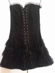 Vestido corset gótico