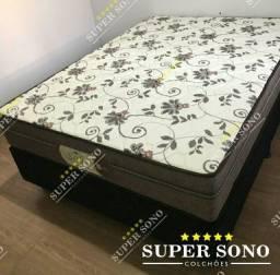 Conj Box Style Probel Casal 138x188 Mola Ensacada A Pronta Entrega