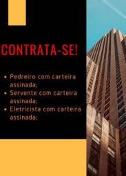 CONTRATA-SE PEDREIRO E AJUDANTE