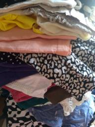 Lote de roupas feminina tamanho médio