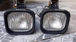 Par de faróis auxiliares com lâmpadas 12v