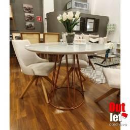 Mesa de Jantar Bronze Off White NOVA (Sem Cadeiras)
