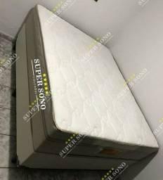 Conj Box Outback Pelmex Casal 138x188 Mola Ensacada A Pronta Entrega
