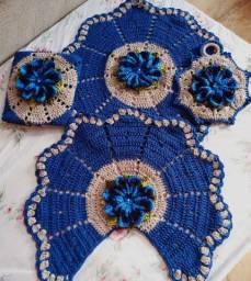 Jogo banheiro 4pcs Crochet 130$