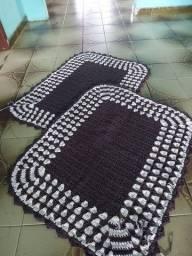 É pra levar!!! Conjunto de tapete em barbante 2 peças.
