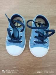 Tênis azul de cadarço Peknin número 19