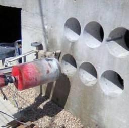 Furos em concreto