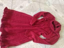 Vestido de lã,serve manequim 36