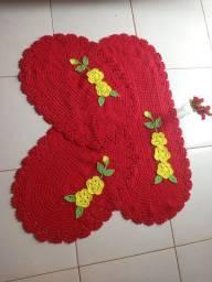 Kit com 3 peças  em crochê