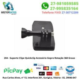 204 - Suporte Clipe Quickclip Acessório Gopro Rotação 360 Graus