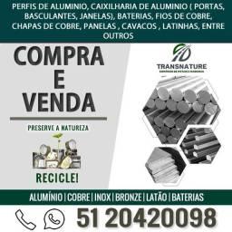 Compra e Venda Aluminio | Cobre | Inox | Bronze | Latão | Baterias
