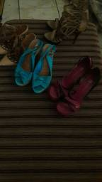 vendo lotes de sandalhas e sapatos femininos