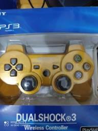 Título do anúncio: Controle PS3 dourado