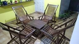 Cadeiras de varanda + mesa centro