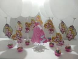 Centro de mesa Princesa Aurora ( cúpula rosa)