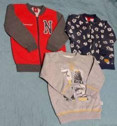 Lote 6 blusas de moletom usadas - tamanho 3