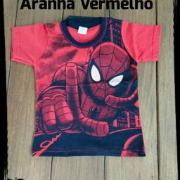 Camisa Homem Aranha tenho tamanhos 1 e 2 anos