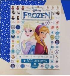 Livro Frozen 500 Adesivos Lindo! - Liquidação