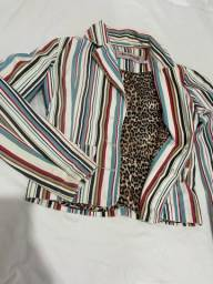 Jaqueta jeans P forrada