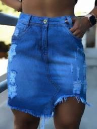 Mini saia e saia midi jeans feminina
