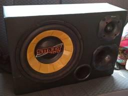 Kit Som Automotivo Caixa Trio Sub Spyder 700w Tl1500