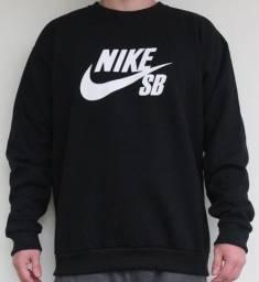 Blusão Sem Capuz Nike Moletom Grosso Tam: M, G, GG, XG, XG2