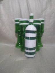 Conjunto de garrafa com copos artesanal