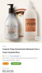 Conjunto Polpa Desodorante Hidratante Para o Corpo Castanha Ekos