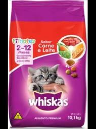 Whiskas Para Gatos Filhotes, Sabor Carne e Leite; 10Kg