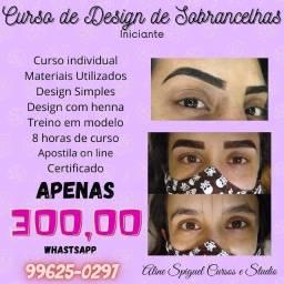 Título do anúncio: Curso de design de sobrancelhas com henna iniciante Curitiba capão raso