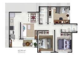 apartamento 3 dormitorios em Bonfim Paulista